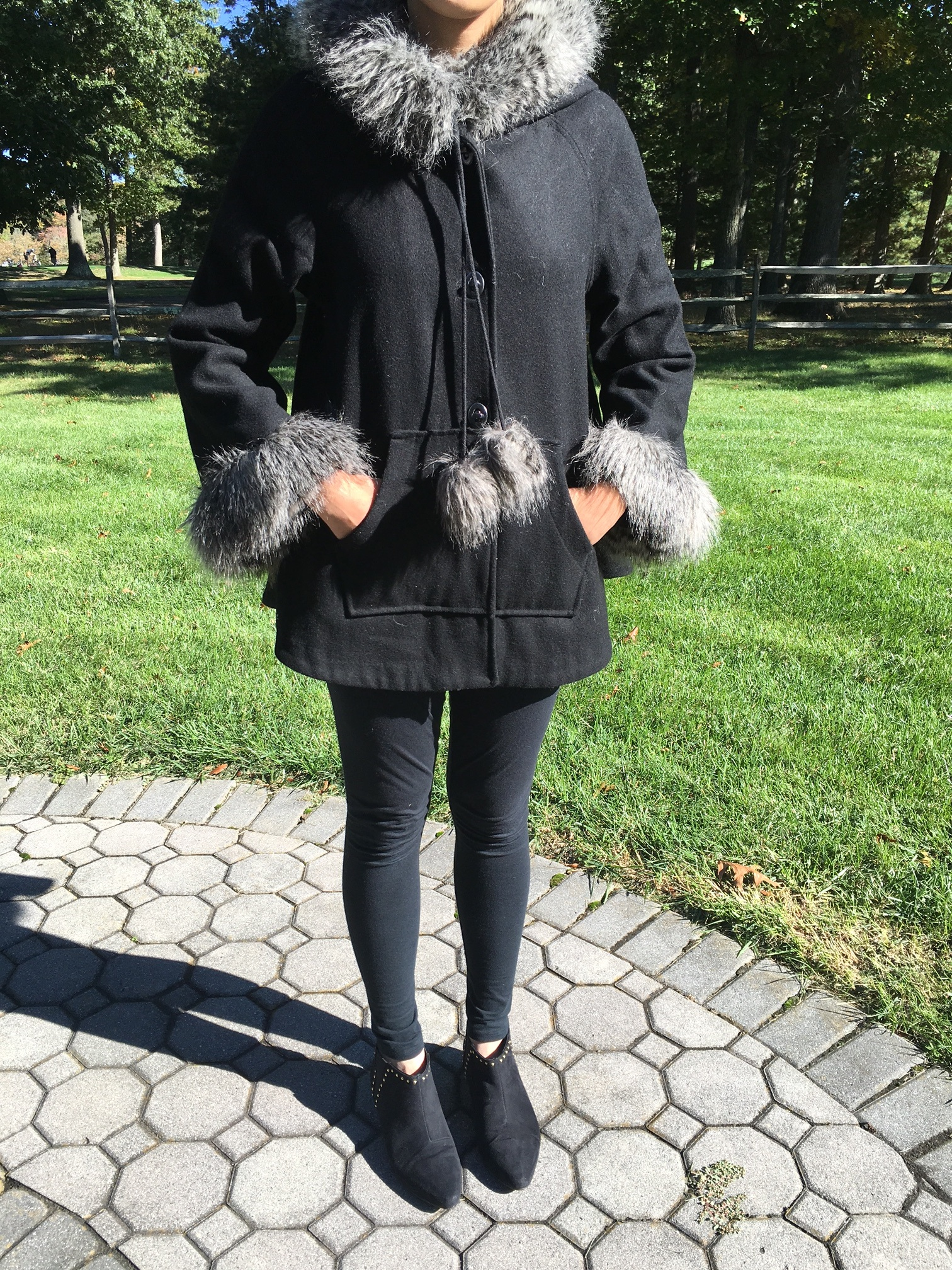 All Black Everything: Fur Coat!